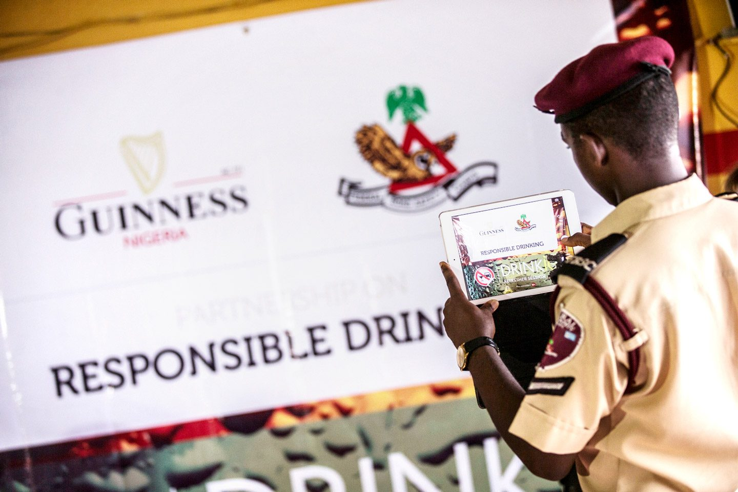 Leadership in alcohol: Road safety official takes part in Guiness Nigeria sponsored road safety campaign